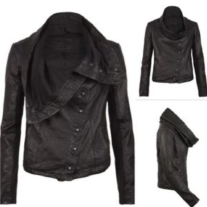 All Saints black leather jacket 6